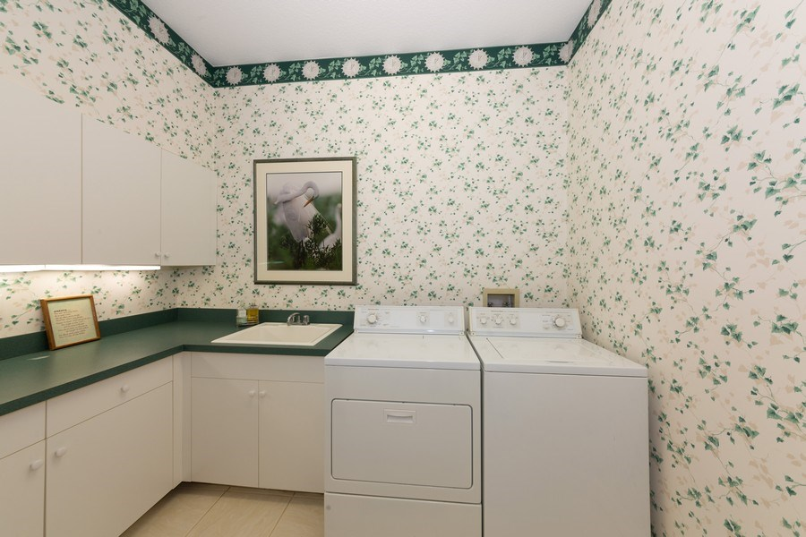 Real Estate Photography - 409 Rosemeade Lane, Naples, FL, 34105 - Laundry Room