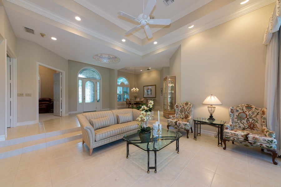 Real Estate Photography - 409 Rosemeade Lane, Naples, FL, 34105 - Living Room / Dining Room