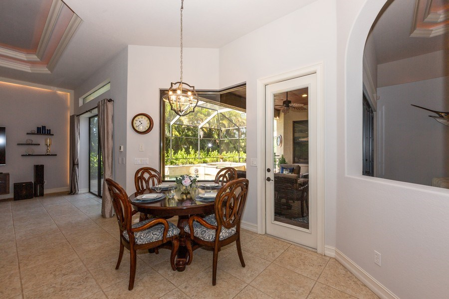 Real Estate Photography - 16079 Waterleaf Lane, Fort Myers, FL, 33908 - Breakfast Area