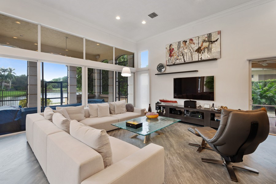 Real Estate Photography - 16466 Brookfield Estates Way, Delray Beach, FL, 33446 - Family Room