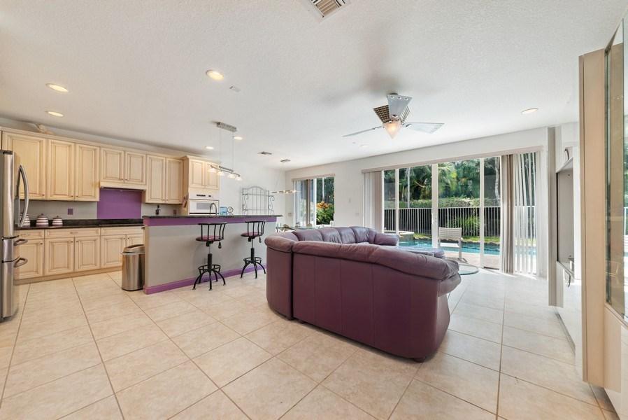 Real Estate Photography - 12629 Colony Preserve Dr., Boynton Beach, FL, 33436 - Family Room / Kitchen
