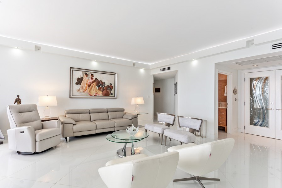 Real Estate Photography - 100 South Birch Road #2404E, Fort Lauderdale, FL, 33316 - Living Room