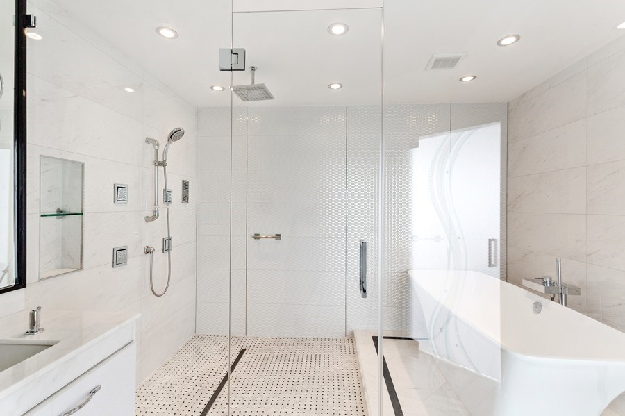 Real Estate Photography - 100 South Birch Road #2404E, Fort Lauderdale, FL, 33316 - Master Bathroom