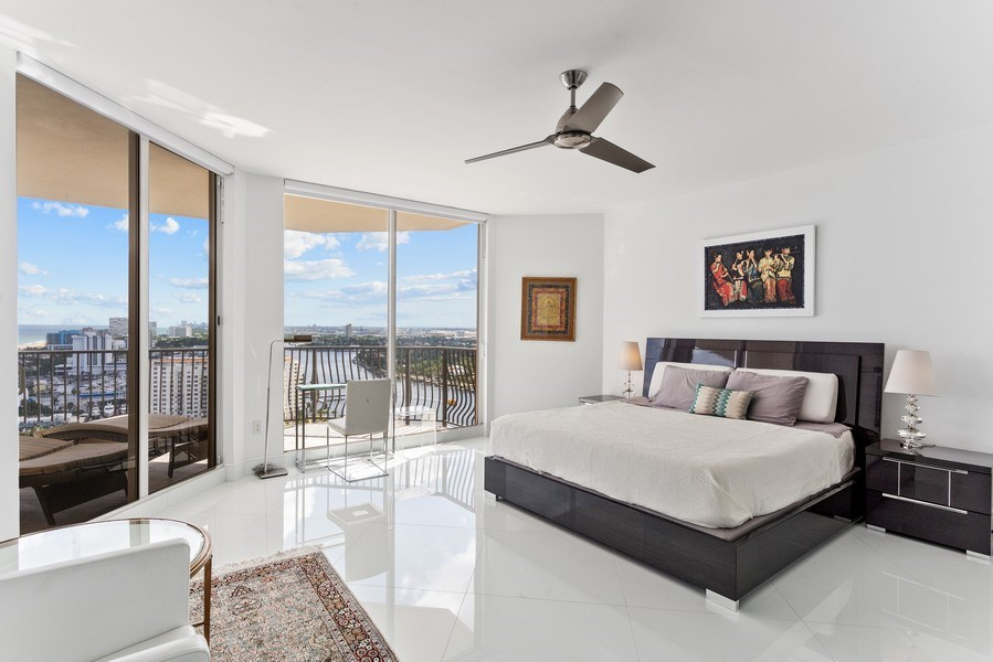 Real Estate Photography - 100 South Birch Road #2404E, Fort Lauderdale, FL, 33316 - Master Bedroom