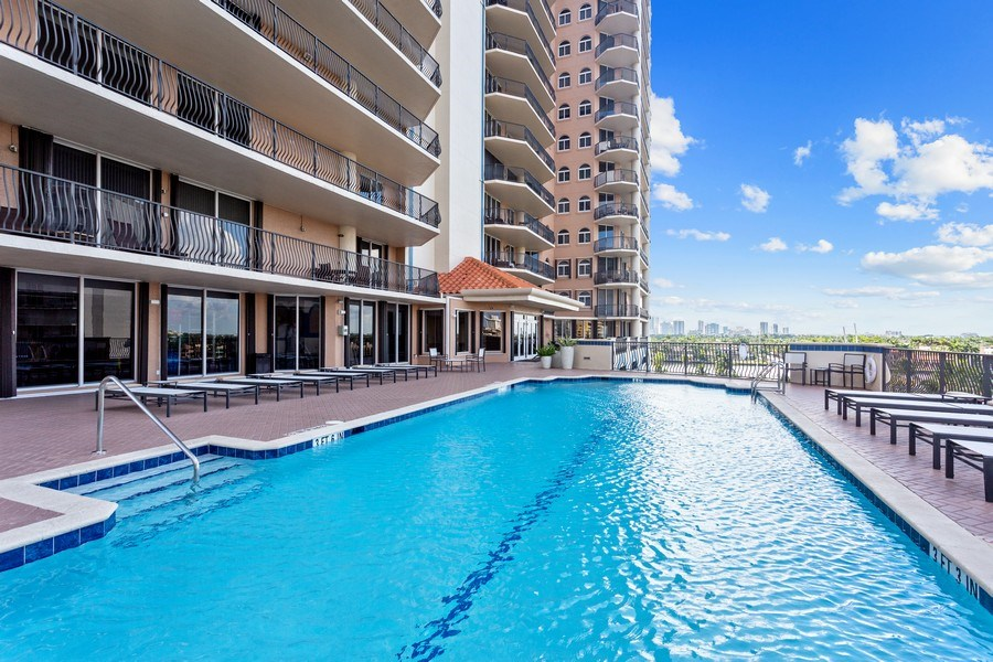 Real Estate Photography - 100 South Birch Road #2404E, Fort Lauderdale, FL, 33316 - Pool