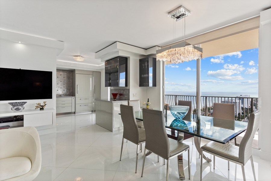 Real Estate Photography - 100 South Birch Road #2404E, Fort Lauderdale, FL, 33316 - Dining Room