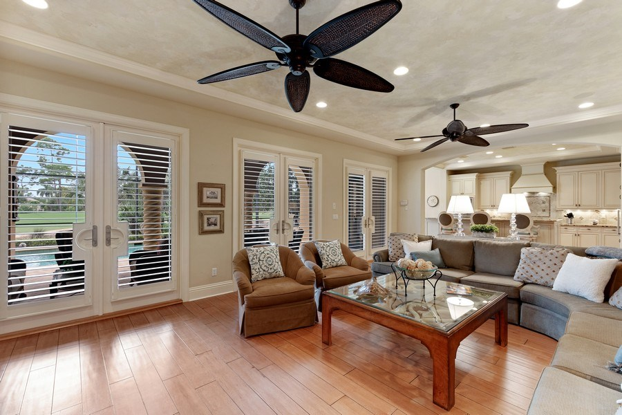 Real Estate Photography - 2947 Tiburon Blvd. E., Naples, FL, 34109 - Living Room
