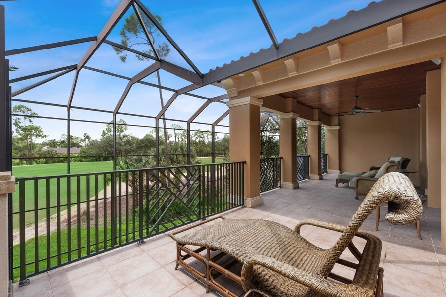 Real Estate Photography - 2947 Tiburon Blvd. E., Naples, FL, 34109 - Balcony