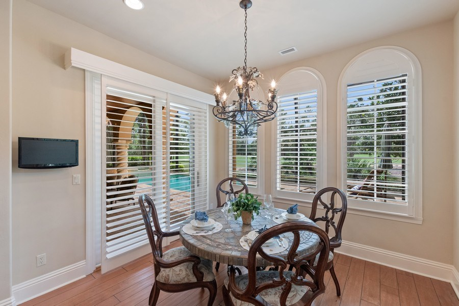 Real Estate Photography - 2947 Tiburon Blvd. E., Naples, FL, 34109 - Dining Area
