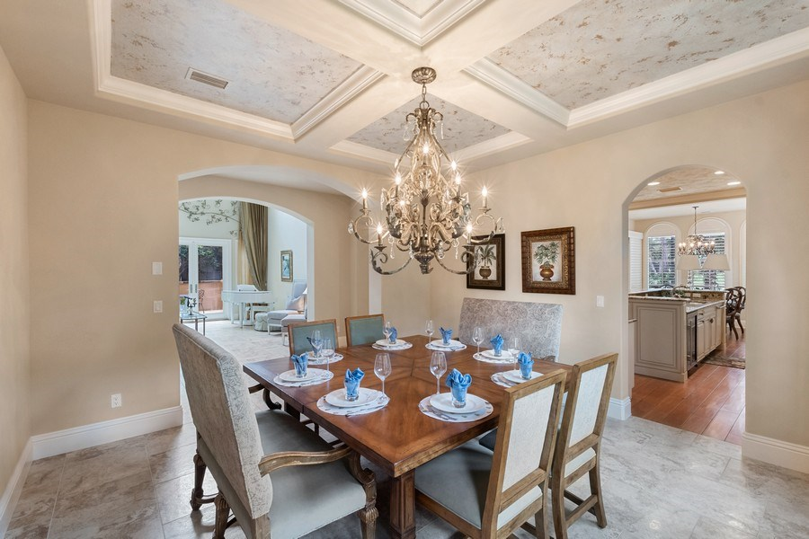 Real Estate Photography - 2947 Tiburon Blvd. E., Naples, FL, 34109 - Dining Room
