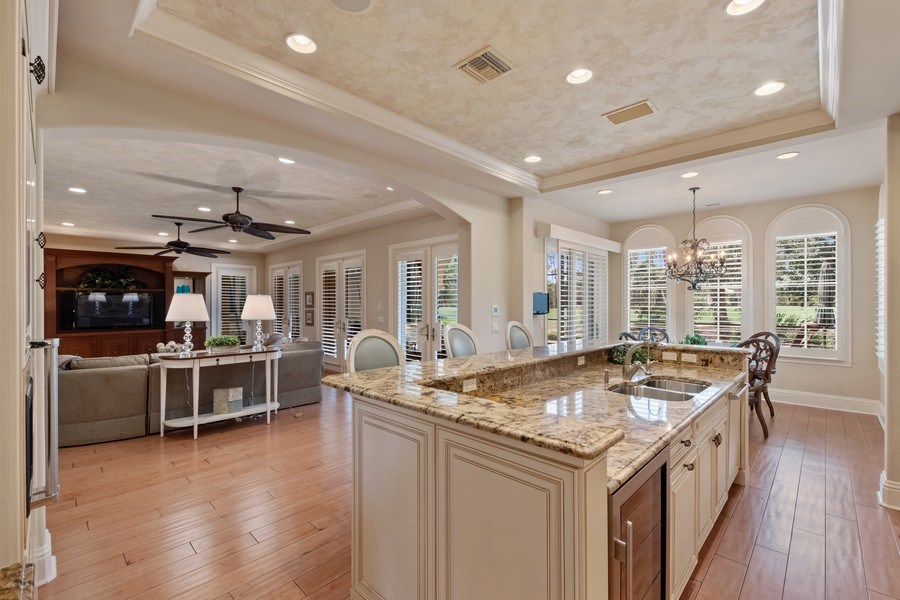 Real Estate Photography - 2947 Tiburon Blvd. E., Naples, FL, 34109 - Kitchen / Living Room