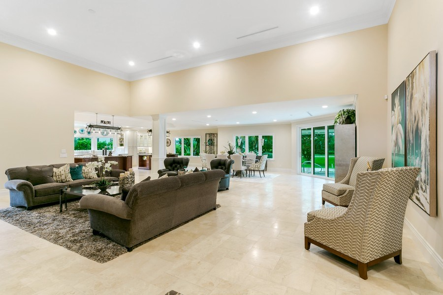 Real Estate Photography - 6840 SE South Marina Way, Stuart, FL, 34996 - Living Room