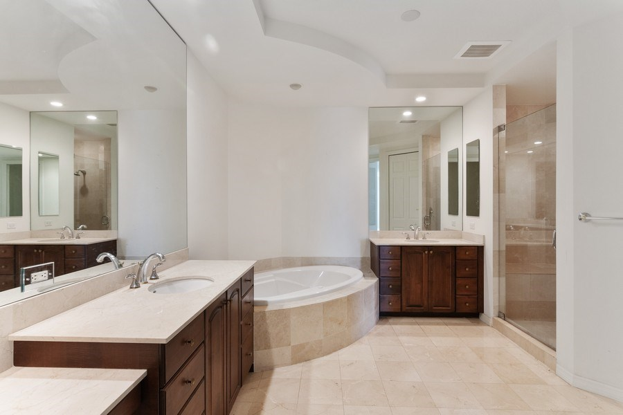 Real Estate Photography - 3603 N. Point Rd. #801 BD6, Osprey, FL, 34229 - Master Bathroom