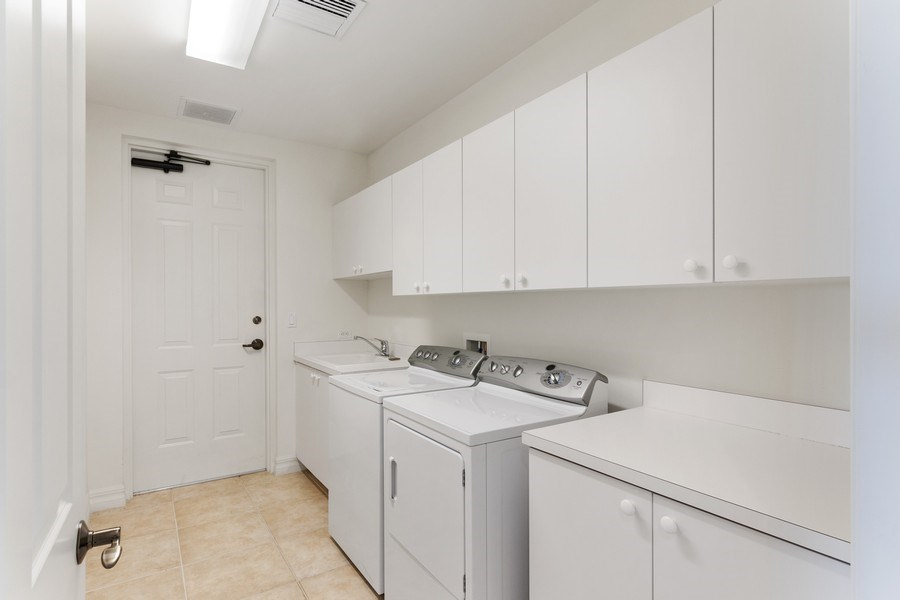 Real Estate Photography - 3603 N. Point Rd. #801 BD6, Osprey, FL, 34229 - Laundry Room