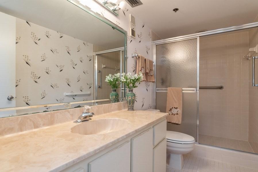 Real Estate Photography - 7310 Ashford Place, Apt 407, Delray Beach, FL, 33446 - Master Bathroom