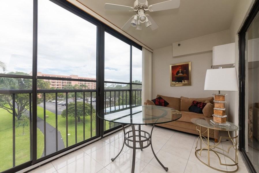 Real Estate Photography - 7310 Ashford Place, Apt 407, Delray Beach, FL, 33446 - Patio