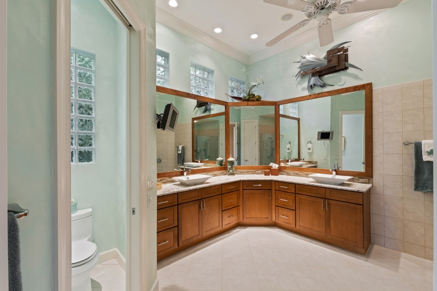 Real Estate Photography - 1420 Via Portofino, Naples, FL, 34108 - Master Bathroom