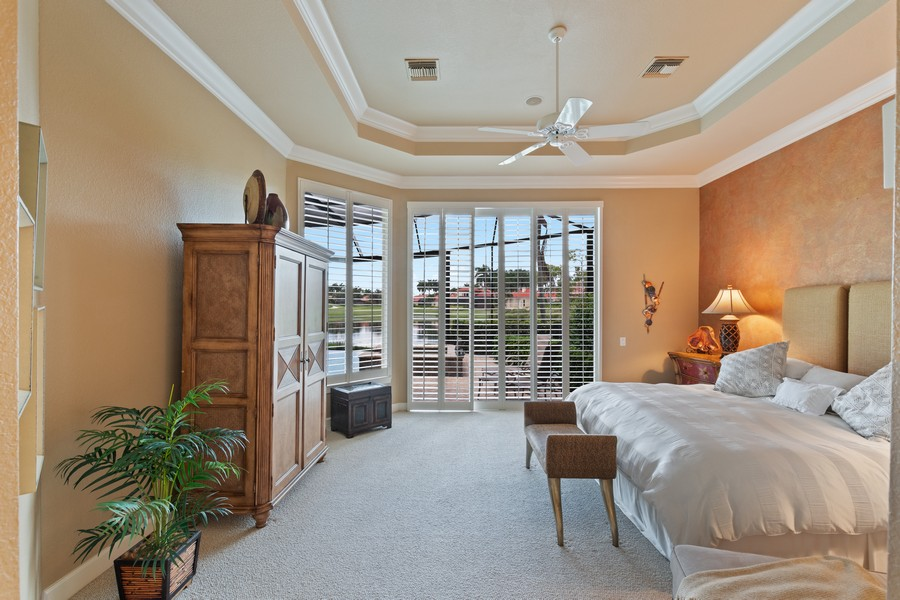 Real Estate Photography - 1420 Via Portofino, Naples, FL, 34108 - Master Bedroom