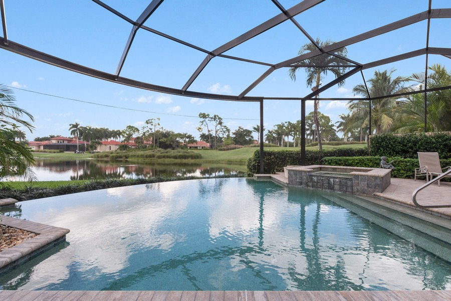 Real Estate Photography - 1420 Via Portofino, Naples, FL, 34108 - Pool