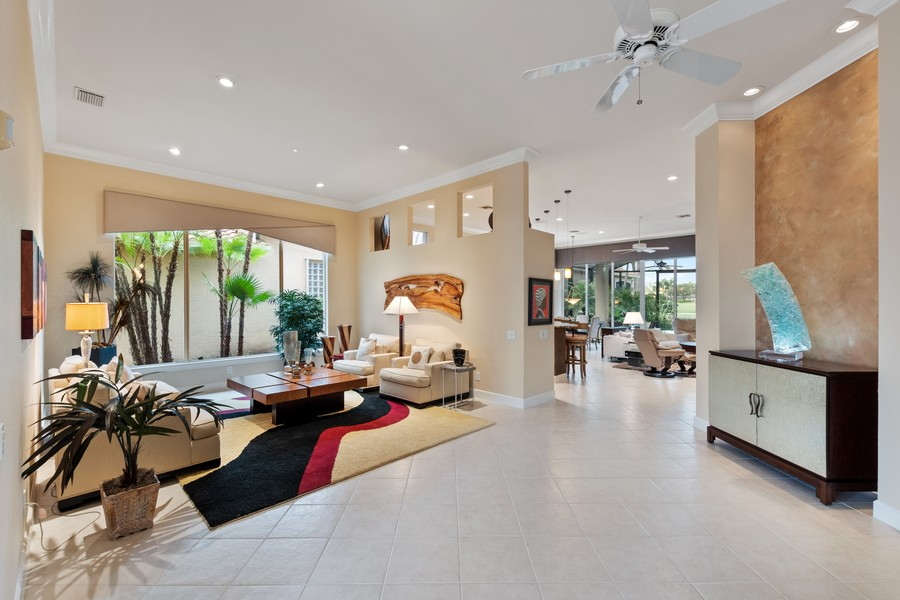 Real Estate Photography - 1420 Via Portofino, Naples, FL, 34108 - Family Room