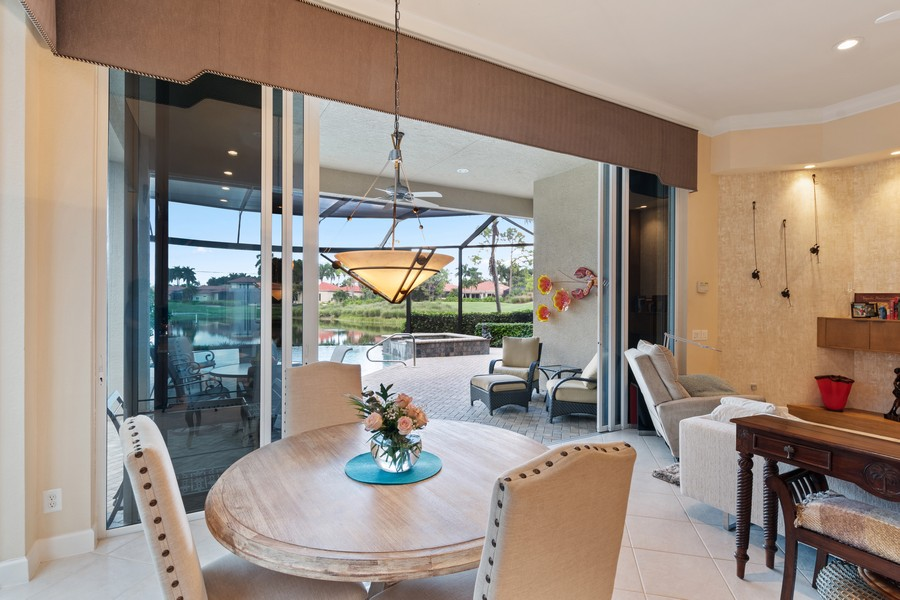 Real Estate Photography - 1420 Via Portofino, Naples, FL, 34108 - Dining Area