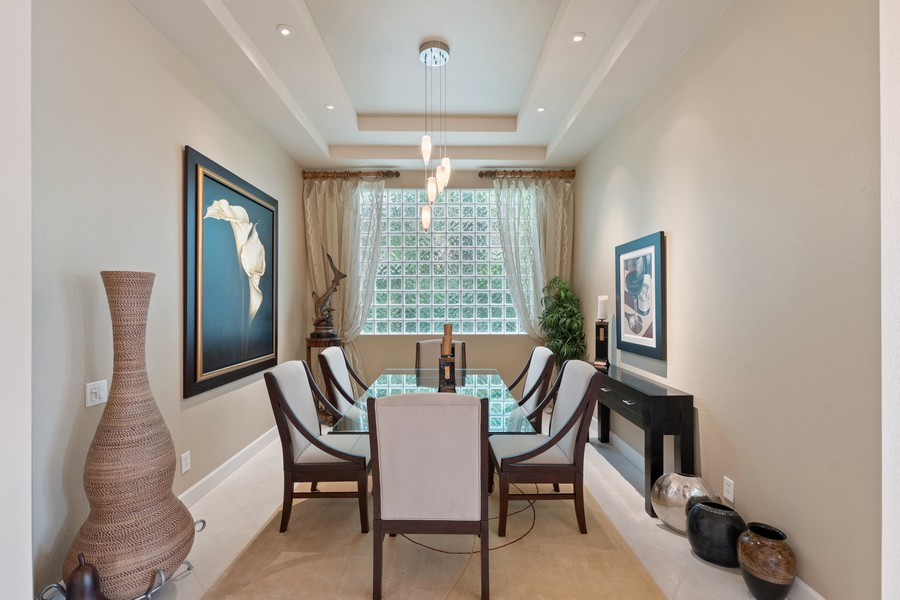 Real Estate Photography - 1420 Via Portofino, Naples, FL, 34108 - Dining Room