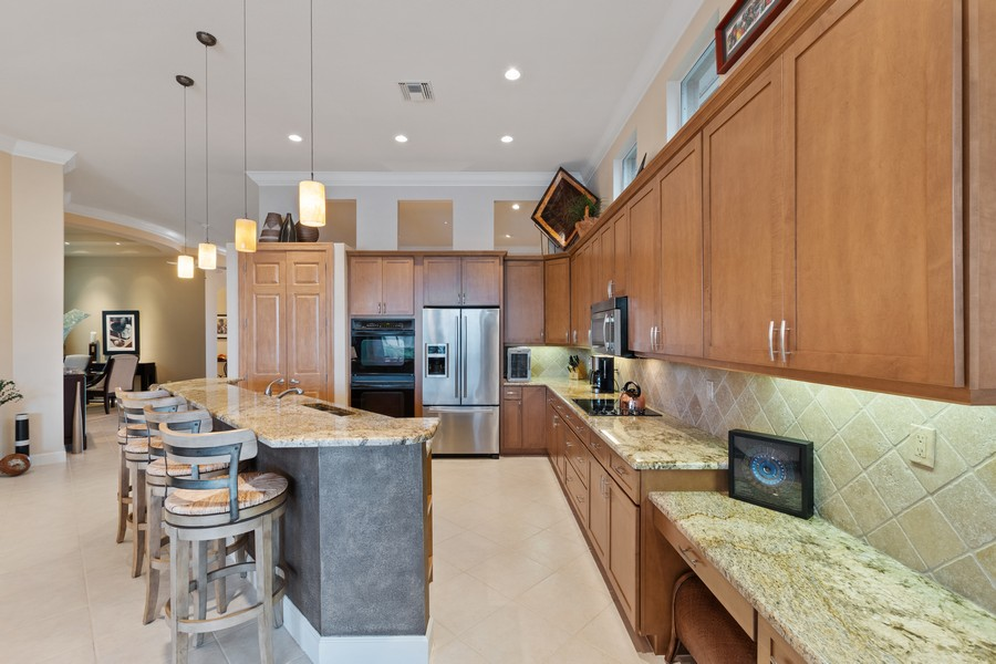 Real Estate Photography - 1420 Via Portofino, Naples, FL, 34108 - Kitchen