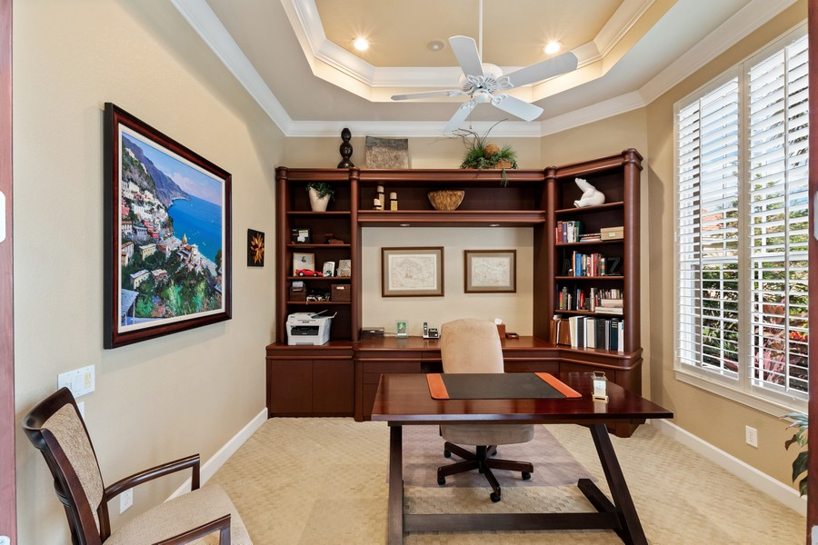 Real Estate Photography - 1420 Via Portofino, Naples, FL, 34108 - Office