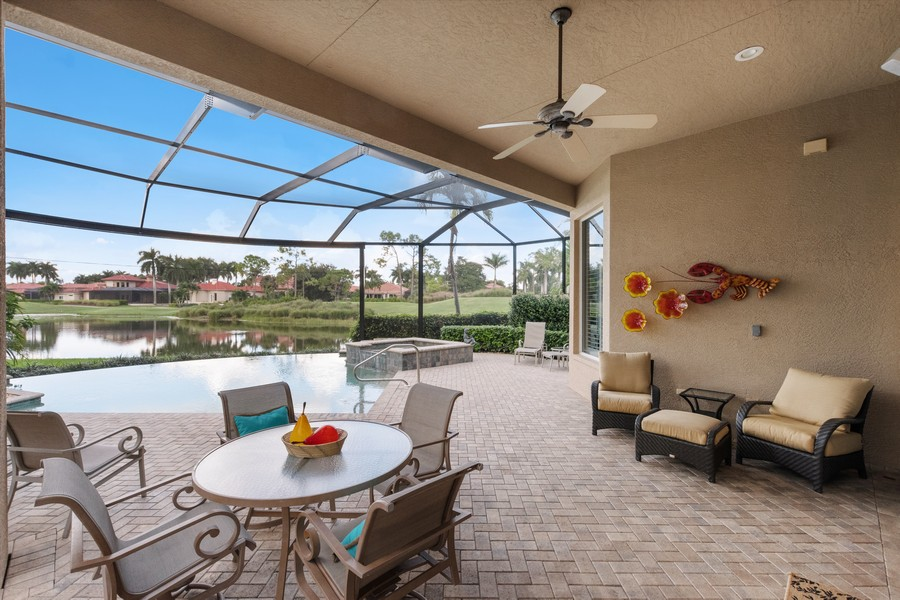 Real Estate Photography - 1420 Via Portofino, Naples, FL, 34108 - Patio