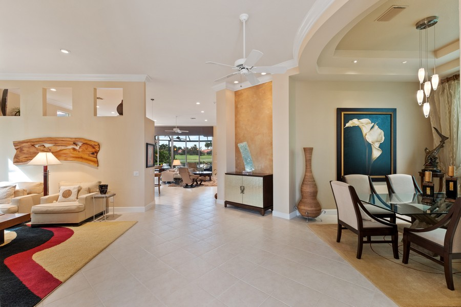 Real Estate Photography - 1420 Via Portofino, Naples, FL, 34108 - Family Room / Dining Room