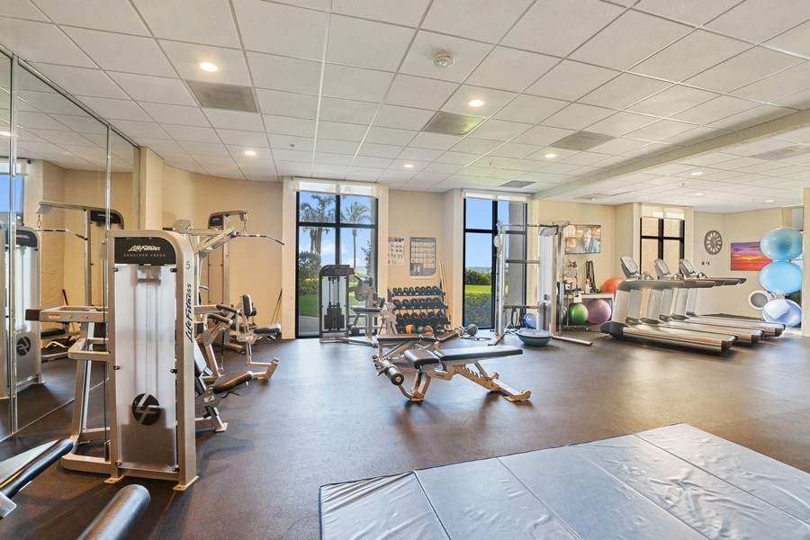 Real Estate Photography - 3115 Gulf Shore Blvd. N., Penthouse 2, Naples, FL, 34103 - Gym