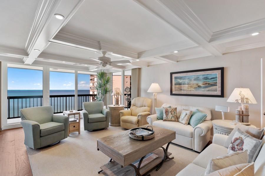 Real Estate Photography - 4551 Gulf Shore Blvd. N. #1702, Naples, FL, 34103 - Living Room