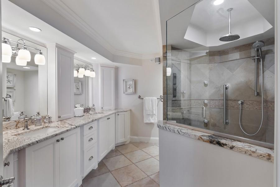 Real Estate Photography - 4551 Gulf Shore Blvd. N. #1702, Naples, FL, 34103 - Master Bathroom