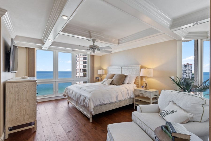 Real Estate Photography - 4551 Gulf Shore Blvd. N. #1702, Naples, FL, 34103 - Master Bedroom