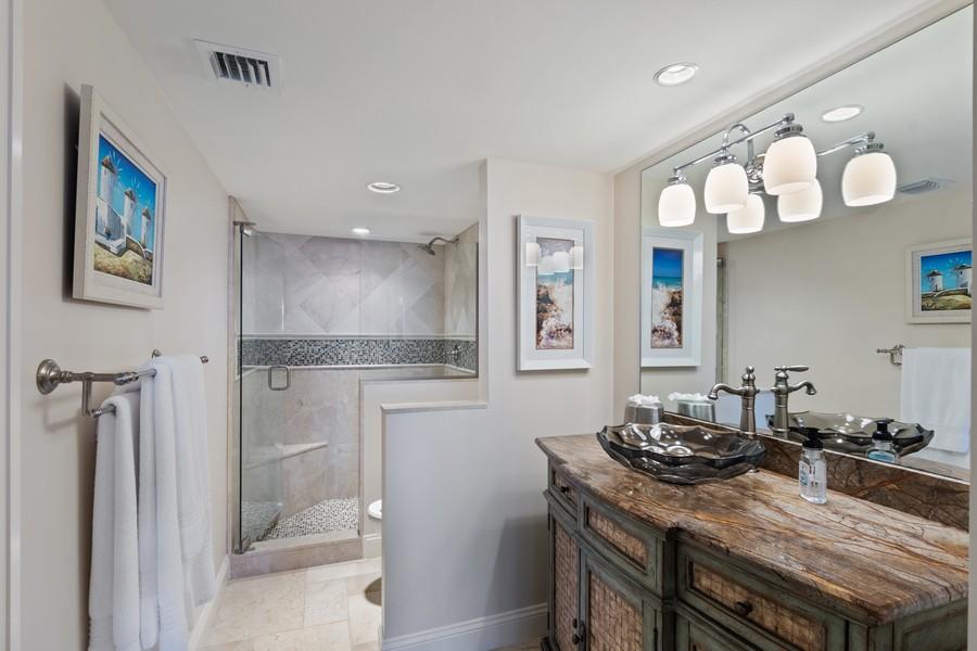 Real Estate Photography - 4551 Gulf Shore Blvd. N. #1702, Naples, FL, 34103 - Bathroom