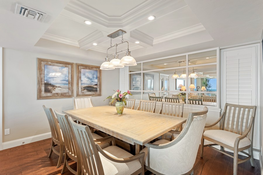 Real Estate Photography - 4551 Gulf Shore Blvd. N. #1702, Naples, FL, 34103 - Dining Area