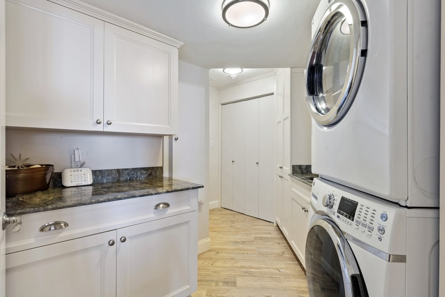 Real Estate Photography - 4551 Gulf Shore Blvd. N. #1702, Naples, FL, 34103 - Laundry Room