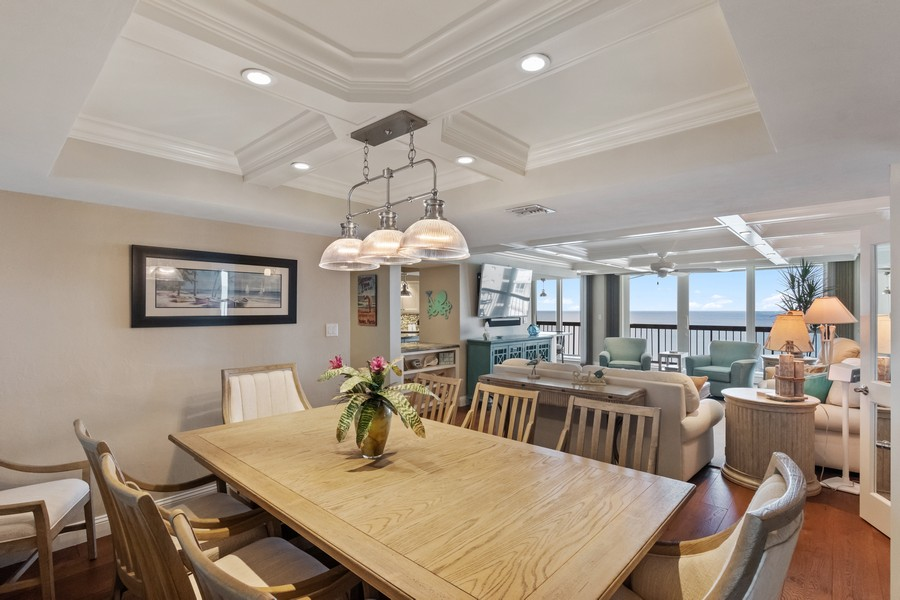 Real Estate Photography - 4551 Gulf Shore Blvd. N. #1702, Naples, FL, 34103 - Living Room / Dining Room