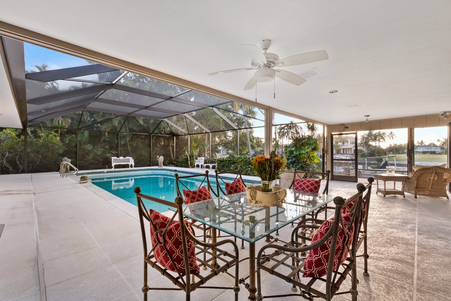 Real Estate Photography - 3220 Rum Row, Naples, FL, 34102 - Lanai and Pool