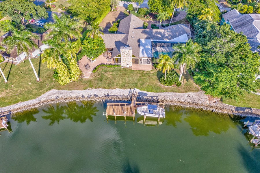 Real Estate Photography - 3220 Rum Row, Naples, FL, 34102 - Water View Back of Property