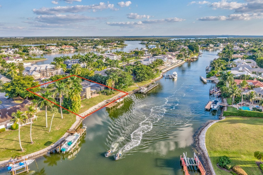Real Estate Photography - 3220 Rum Row, Naples, FL, 34102 - Direct Access to the Gulf of Mexico
