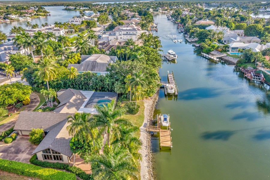 Real Estate Photography - 3220 Rum Row, Naples, FL, 34102 - View of Side Lot