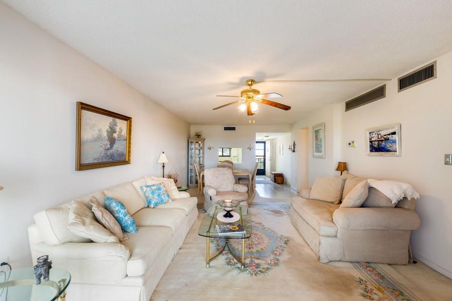 Real Estate Photography - 4280 SE 20th Pl, Unit 702, Cape Coral, FL, 33904 - Living Room