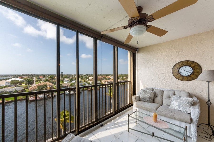 Real Estate Photography - 4280 SE 20th Pl, Unit 702, Cape Coral, FL, 33904 - Balcony