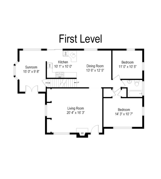Real Estate Photography - 46 Mcdougal Drive, White Plains, NY, 10603 - Floor Plan