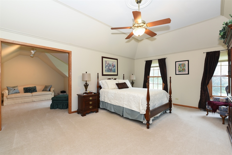 Real Estate Photography - 10N768 Williamsburg Dr, Elgin, IL, 60124 - Master Bedroom