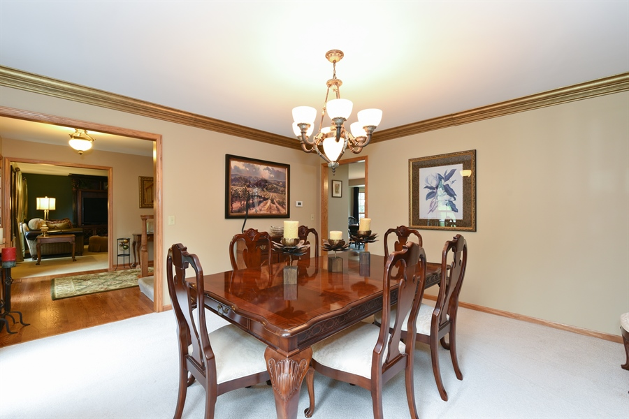 Real Estate Photography - 10N768 Williamsburg Dr, Elgin, IL, 60124 - Dining Room