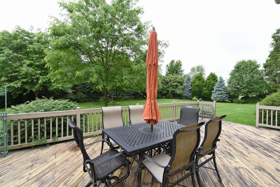 Real Estate Photography - 10N768 Williamsburg Dr, Elgin, IL, 60124 - Deck