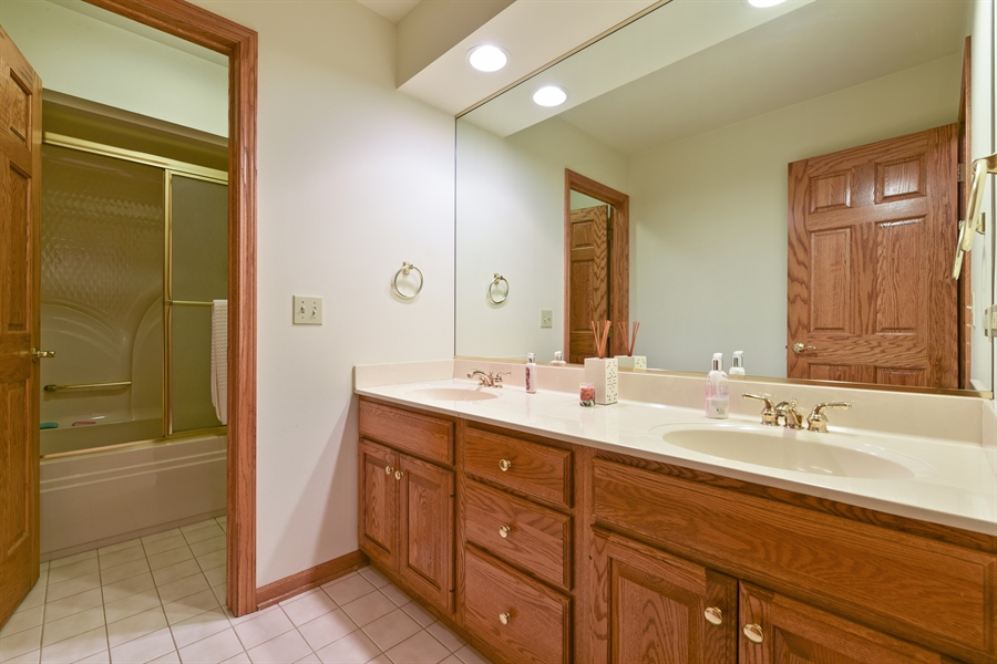 Real Estate Photography - 10N768 Williamsburg Dr, Elgin, IL, 60124 - 2nd Bathroom