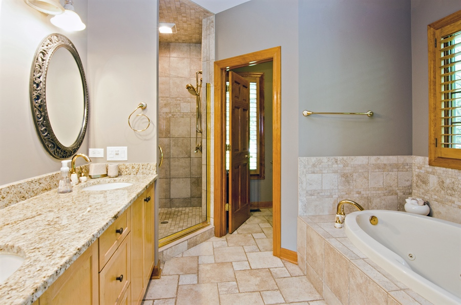 Real Estate Photography - 7930 Dunhill, Lakewood, IL, 60014 - Master Bathroom